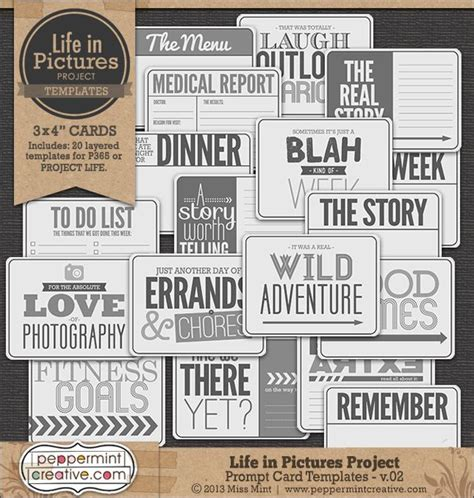 prompt cards template 10 best images about project just cards on
