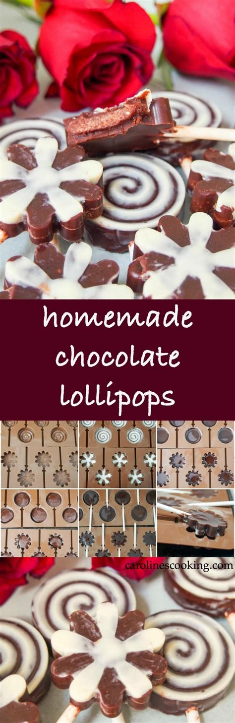 Handmade Chocolate Lollipops - chocolate lollipops caroline s cooking