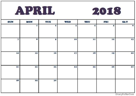 april 2018 calendar april 2018 calendar excel template