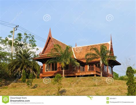 the thai house thai house style stock image image 28549871