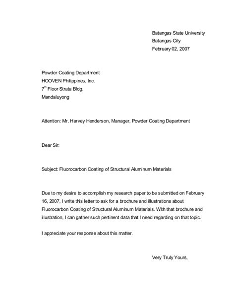 Inquiry Letter Pdf 14532813 Exle Letter Of Inquiry