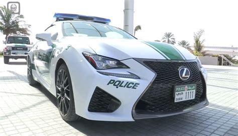 lexus dubai dubai police adds lexus rc f to its fleet