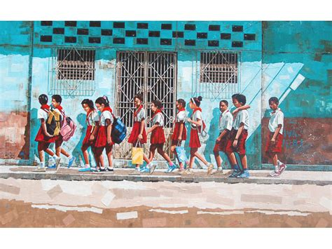 school painting for the future painting of cuban school children