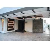 Modern Homes Car Porch Main Door False Ceiling