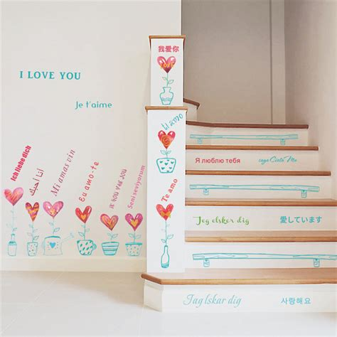 Sticker Wallpaper I Loved You popular stair decoration buy cheap stair decoration lots from china stair decoration suppliers