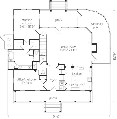 Bermuda Bluff Cottage Allison Ramsey Architects Inc Southern Living 2 Bedroom Guest House Plans