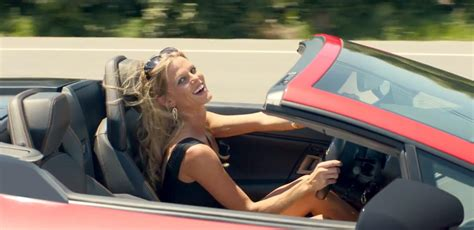 car commercial girl short blond hair blonde in a convertible commercial reanimators