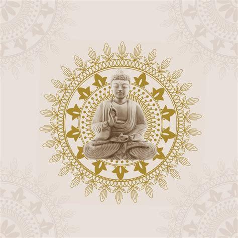 bonbon buddha wallpaper cream gold  wallpaper