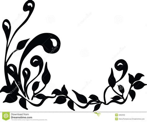 Foto Vector silueta floral vector foto de archivo imagen 5662330