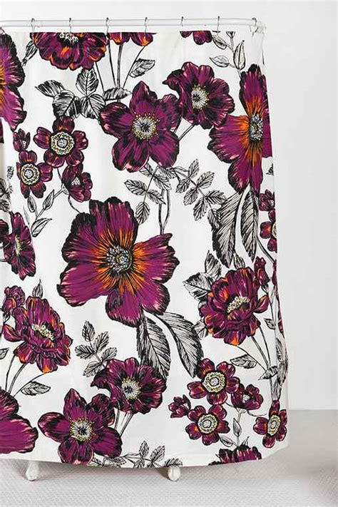 sketchbook outfitters sketch flower shower curtain outfitters