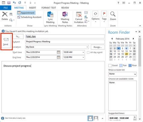 Create New Calendar In Outlook Create A Meeting In Outlook 2013