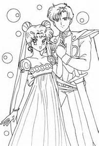 princess serenity prince endymion coloring sailormoon sailor moon coloring pages