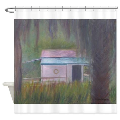 florida state shower curtain old florida boathouse shower curtain by pattyweeks