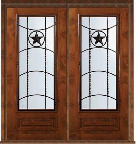 Pre Hung Double Door 80 Wood Alder Texan Texas Star 3 4 Pre Hung Front Doors