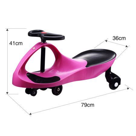 swing car ride on toy swing car slider kids fun ride on toy with foot mat pink