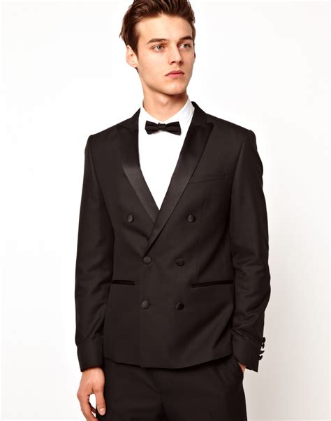 asos suit jacket in black asos asos breasted tuxedo suit jacket in black for