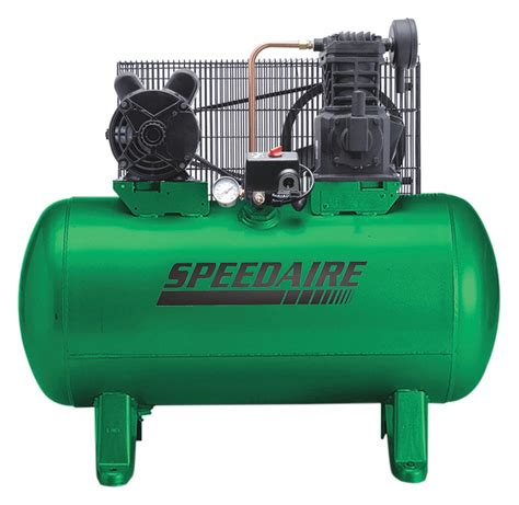 speedaire 1 phase electrical horizontal tank mounted 2 00hp air compressor stationary air