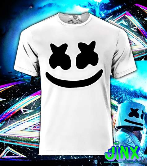 T Shirt Kaos Dj Marshmello 1 playera o camiseta marshmello electro dj and electronic