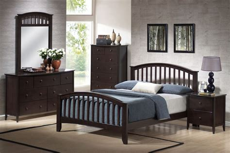san marino bedroom set acme san marino queen slat bedroom set in espresso