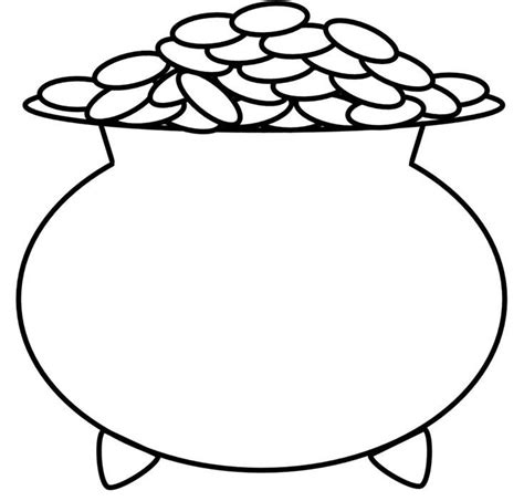 pot of gold coloring page rainbow and pot of gold coloring page coloring home