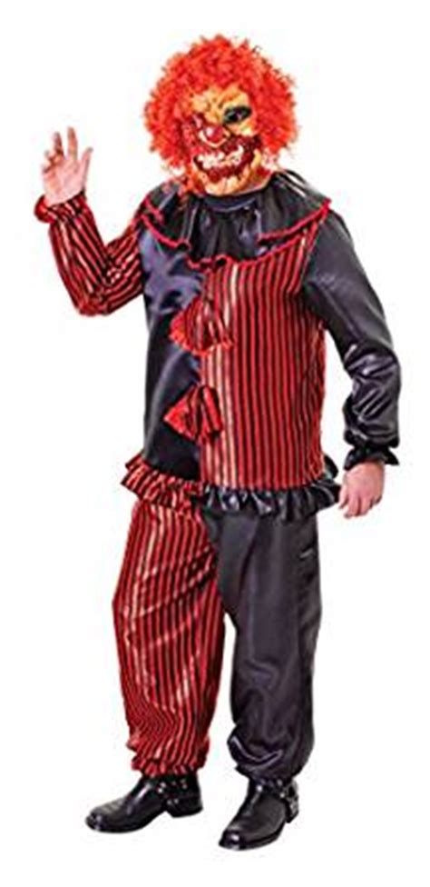 amazon zombie costume amazon com adults halloween zombie clown costume and mask
