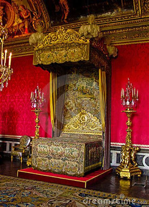 king louis xiv bedchamber versailles france stock