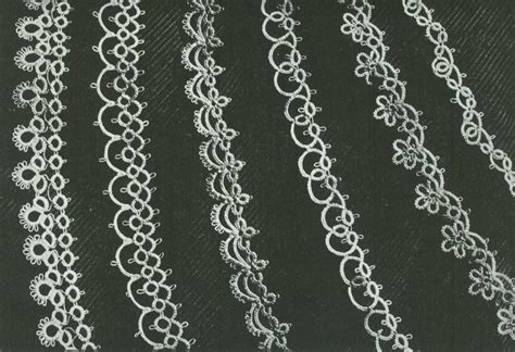 patterns free tatting vintage 1940s six handkerchief or linen edging tatting