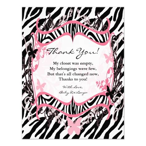 printable zebra print cards 6 best images of spa printable birthday tags for thank you