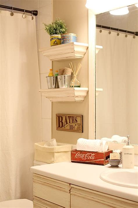 Small Shelving For Bathroom Diy Bathroom Decor Ideas For Small Bathroom Decozilla