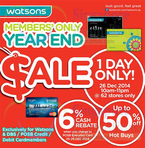 Up To 50 6 members only year end sale on 26 dec 2014 up to 50 percent buys 6 percent rebate
