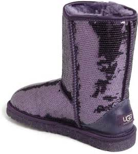 Ugg classic short sparkle boot in purple purple velvet lyst