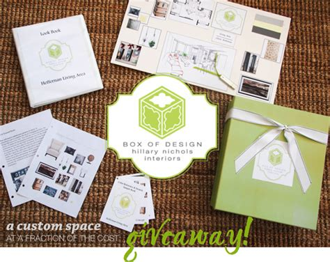 Interior Design Giveaways - rage against the minivan win your own interior designer a box of design giveaway