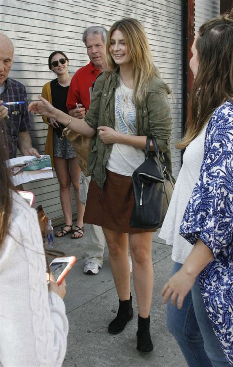 The Mccall Skirt That Mischa Barton Wore Is Now At Outfitters by Mischa Barton In Mini Skirt At Dwts Studio 03 Gotceleb