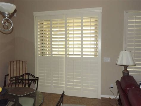 interior louvered shutter efficient window coverings plantation shutters on a sliding glass door top part of