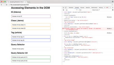 javascript queryselector tutorial methods for accessing elements in the dom file with
