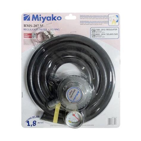 Regulator Meter Dan Selang Metal Regulator Miyako Gas Regulator jual miyako rms 207m regulator selang gas harga kualitas terjamin blibli