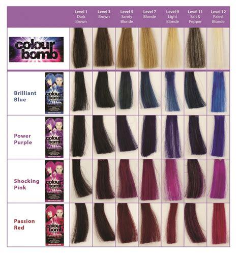 purple hair color chart colour bomb semi permanent hair colour i