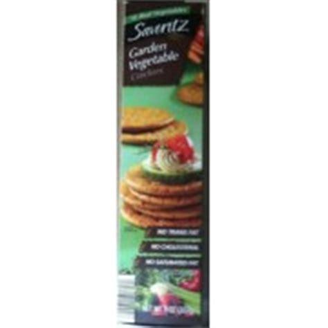 Savoritz Garden Vegetable Crackers Calories Nutrition Garden Vegetable Crackers