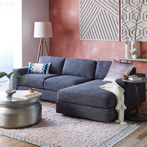 west elm 2 chaise sectional west elm