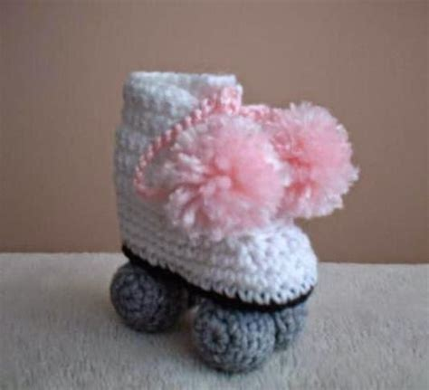 Crochet Pattern Roller Skate Booties   recycling arts and crafts crochet baby booties