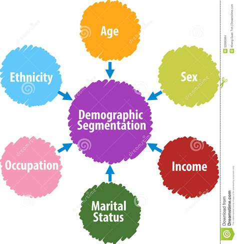 Mba Target Market Demographics by Demographic Segmentation Business Diagram Illustration