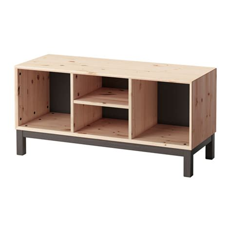 ikea wooden bench norn 196 s bench with storage compartments pine grey ikea