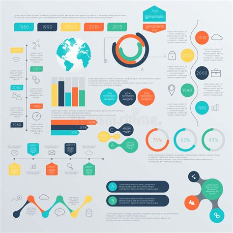 infographic and diagram design elements vector set of timeline infographic design templates stock vector