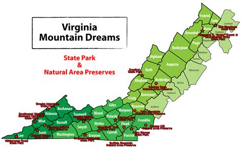 virginia parks map of virginia state parks my