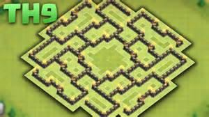 Clash of clans th9 defense hybrid base the bagua 2016 replays