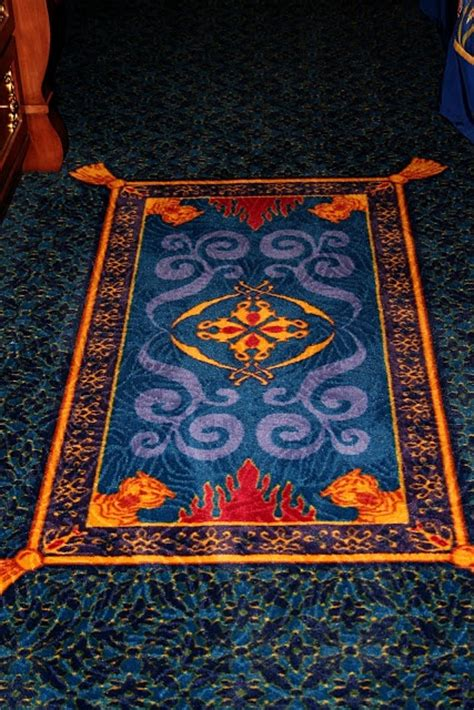 aladin rugs magic carpet put in front of the door at the entrance 2014 musical