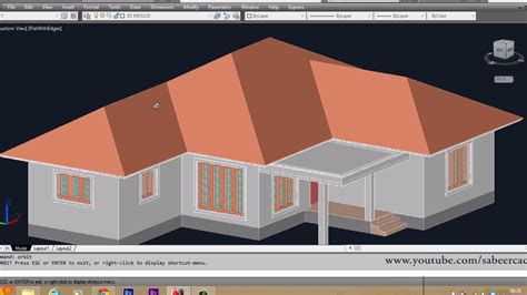 autocad 3d house part6 sloped roof autocad sloped roof