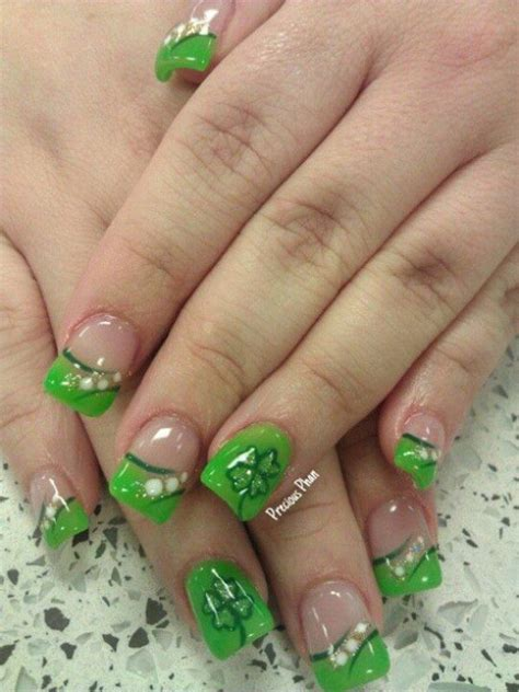 st nails 16 easy yet incredibly cool st patricks day nails designs