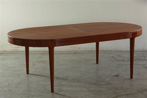 Teak Oval Extension Dining Table By Arne Hovmand Olsen For Oval Dining Table With Extension