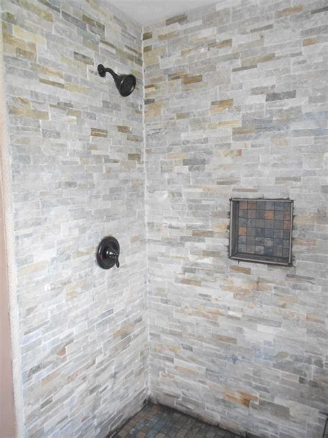 stone bathroom showers gray stone tile shower grey stone tile shower our tile